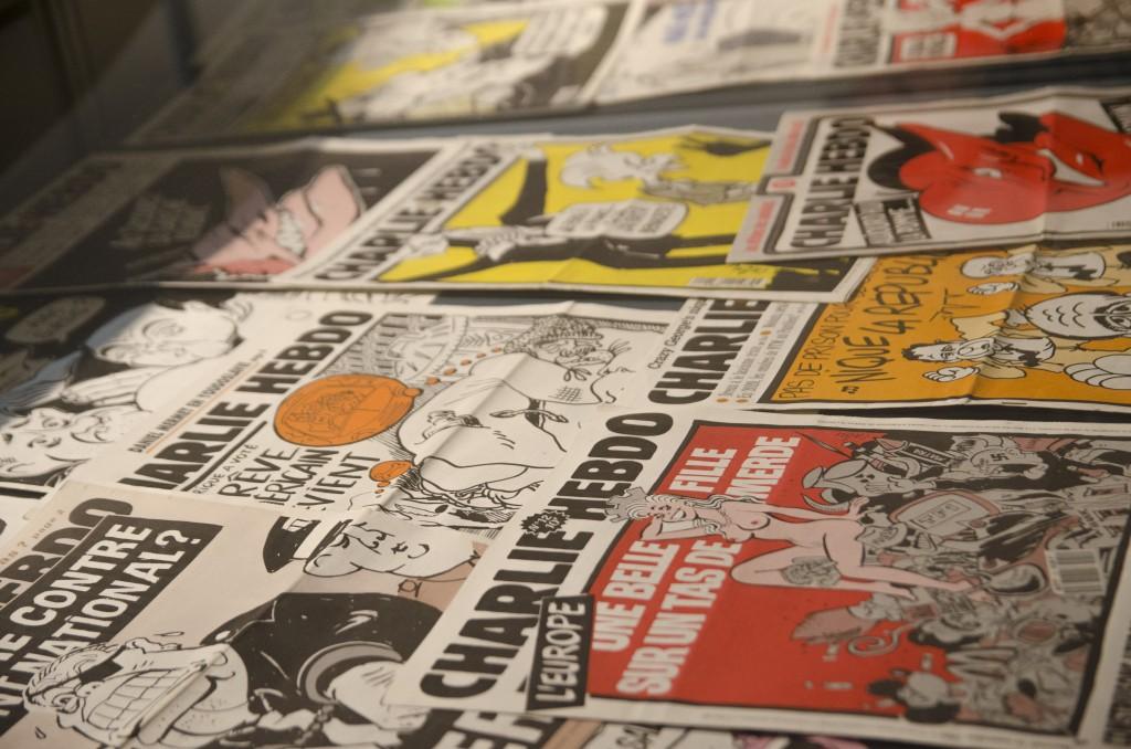 Les Unes de Charlie Hebdo présentée au musée de la BD (Florian Maussion / 3millions7.com)