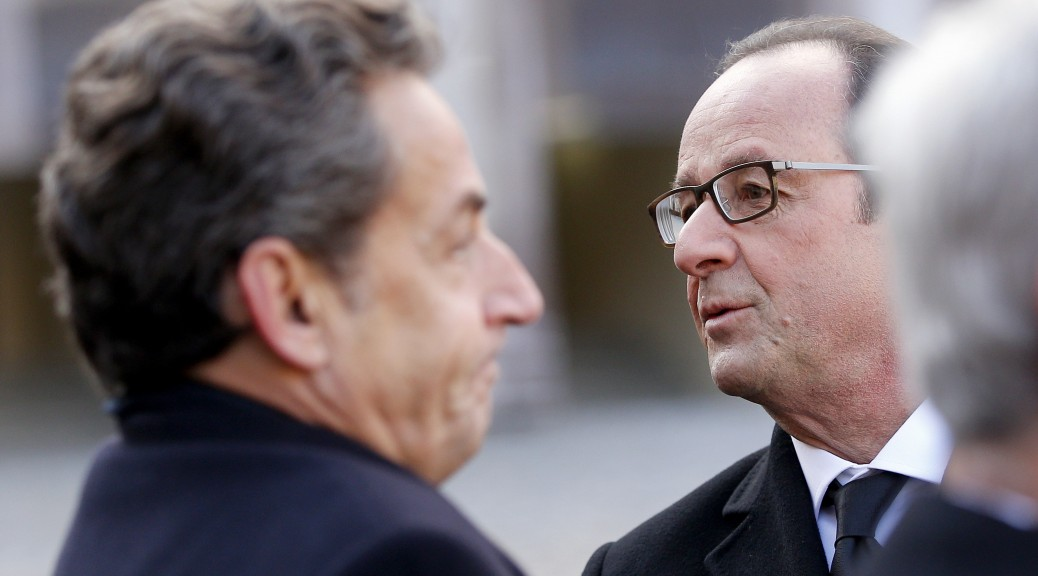 Nicolas Sarkozy et François Hollande le 3 février 2015