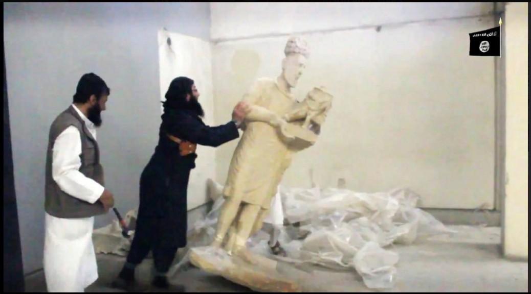 Capture d'écran de la vidéo de propagande de l'État islamique