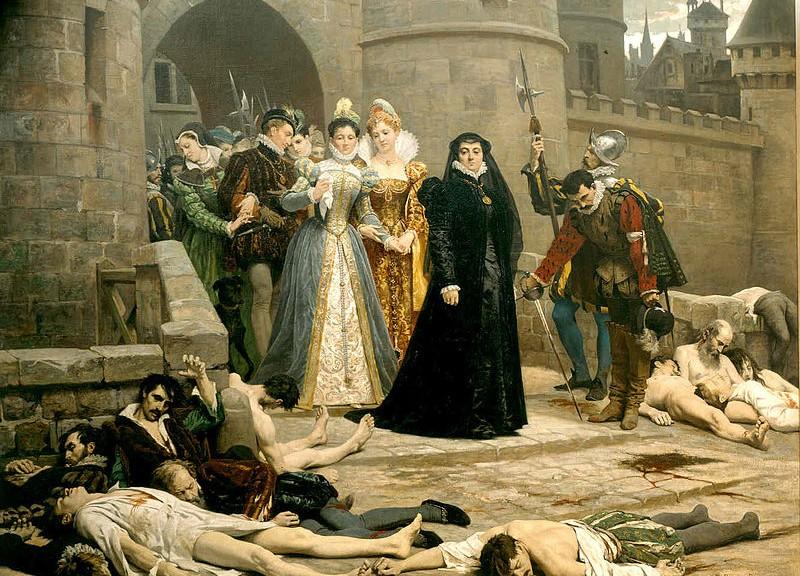 Catherine de Médicis découvre le cadavre des protestants tués lors de la Saint-Barthélémy.