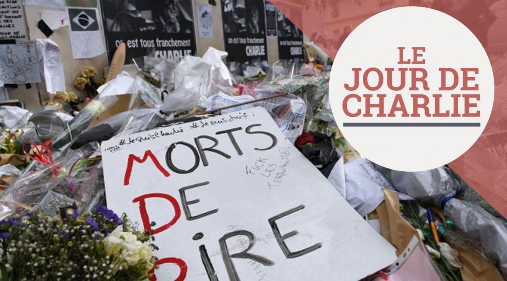 Devant les locaux de Charlie Hebdo, le 15 février. (AFP PHOTO / LOIC VENANCE)
