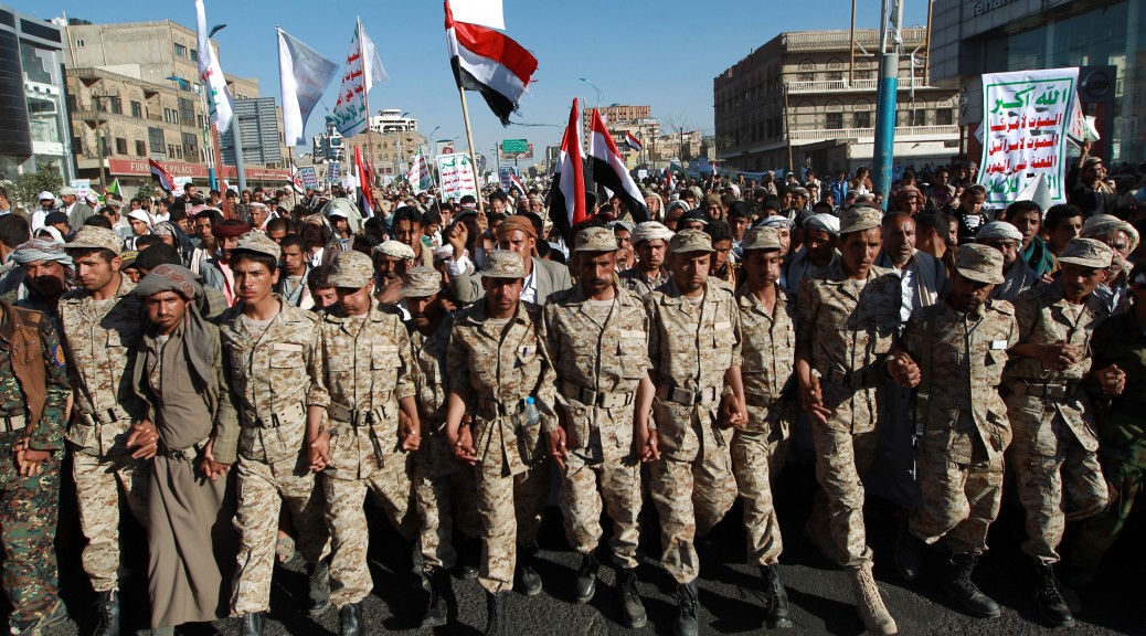 Des rebelles du groupe chiite Ansar Allah (MOHAMMED HUWAIS / AFP)