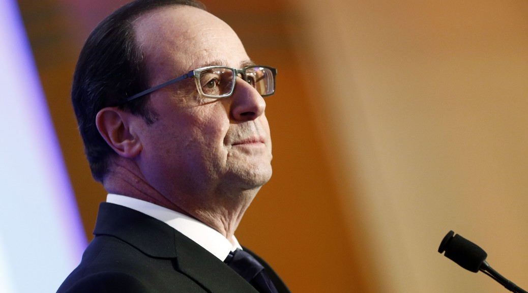 Photo : François Hollande lors du diner du Crif - Etienne Laurent / APF