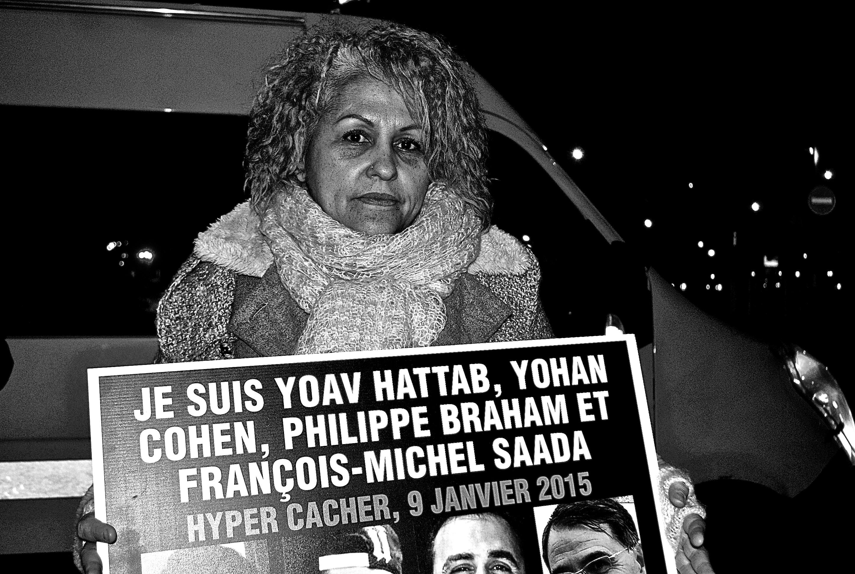 Dina Foy, lors de la marche du 12 février en mémoire à Ilan Halami -3millions7