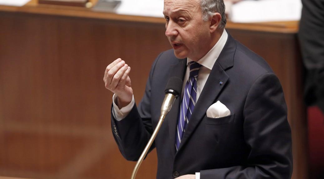 Le ministre des Affaires étrangères Laurent Fabius (FRANCOIS GUILLOT / AFP)