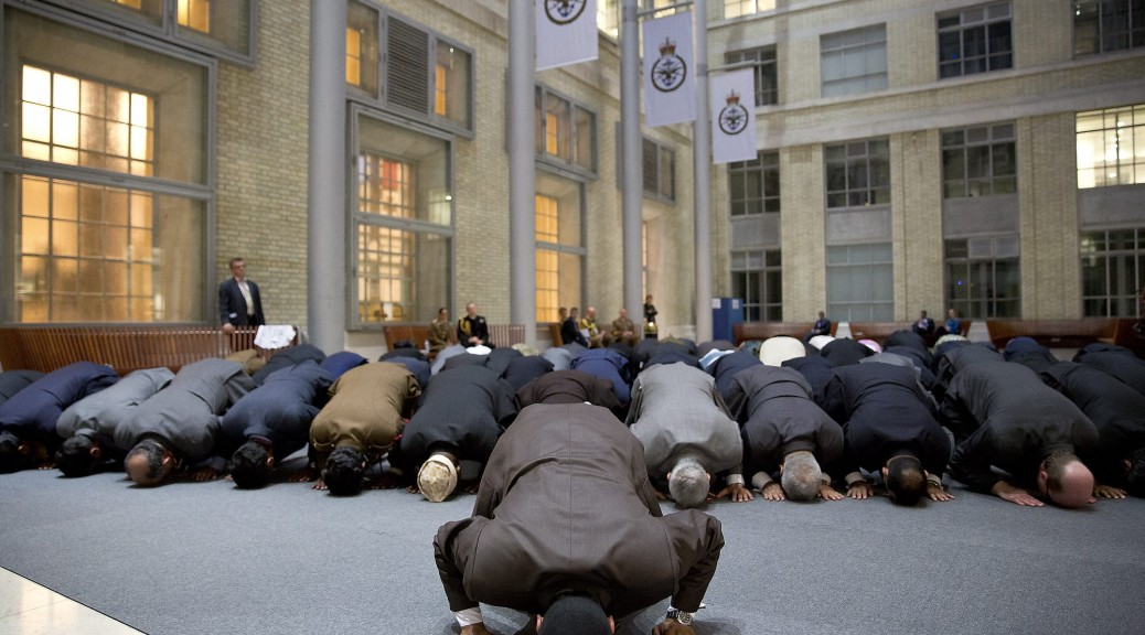 Imam Asim Hafiz OBE Leading Muslim Prayers at MoD