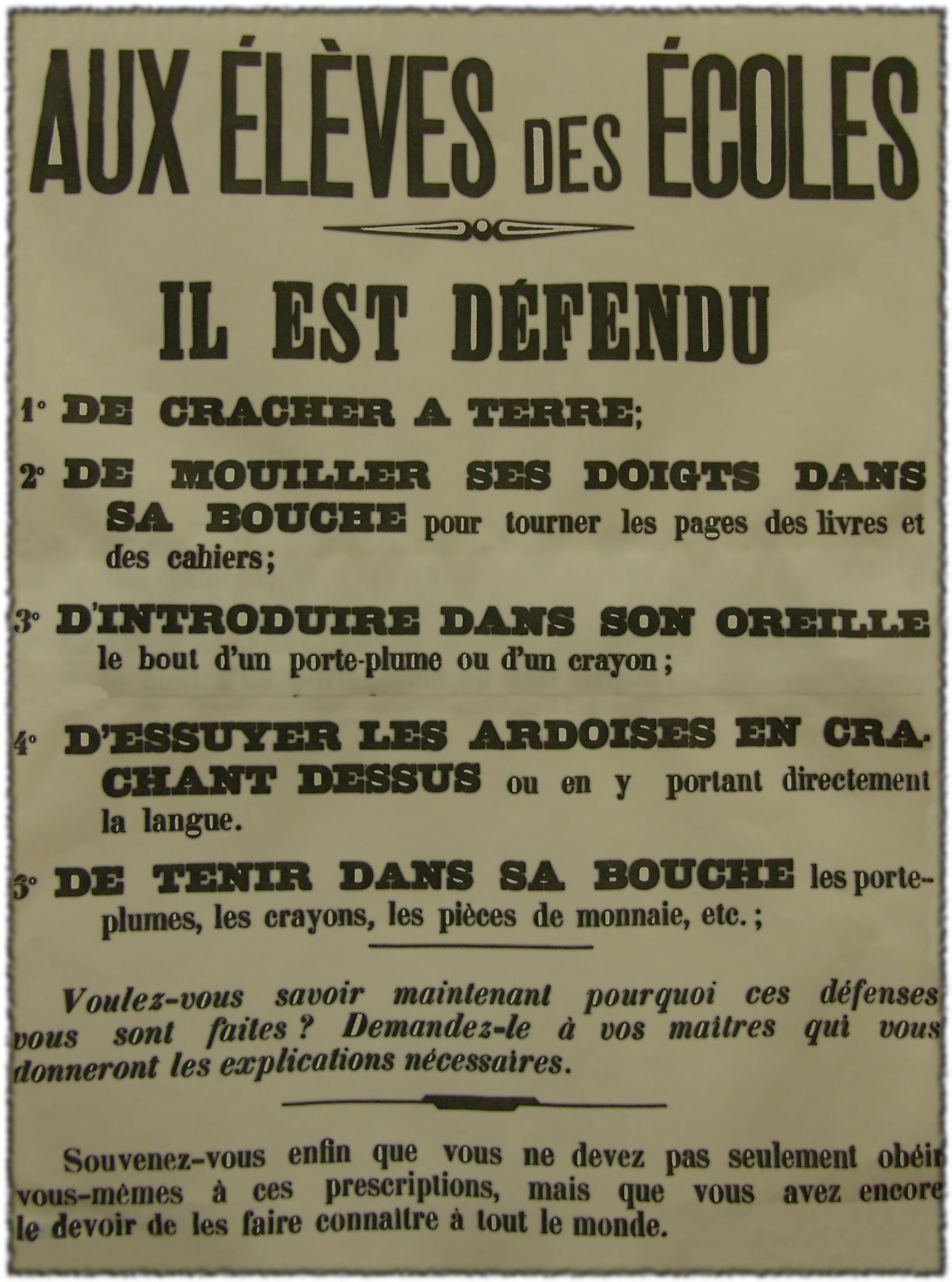 L 39 ducation civique fabrique citoyens c 39 est trop lui for Affiche regle de la maison