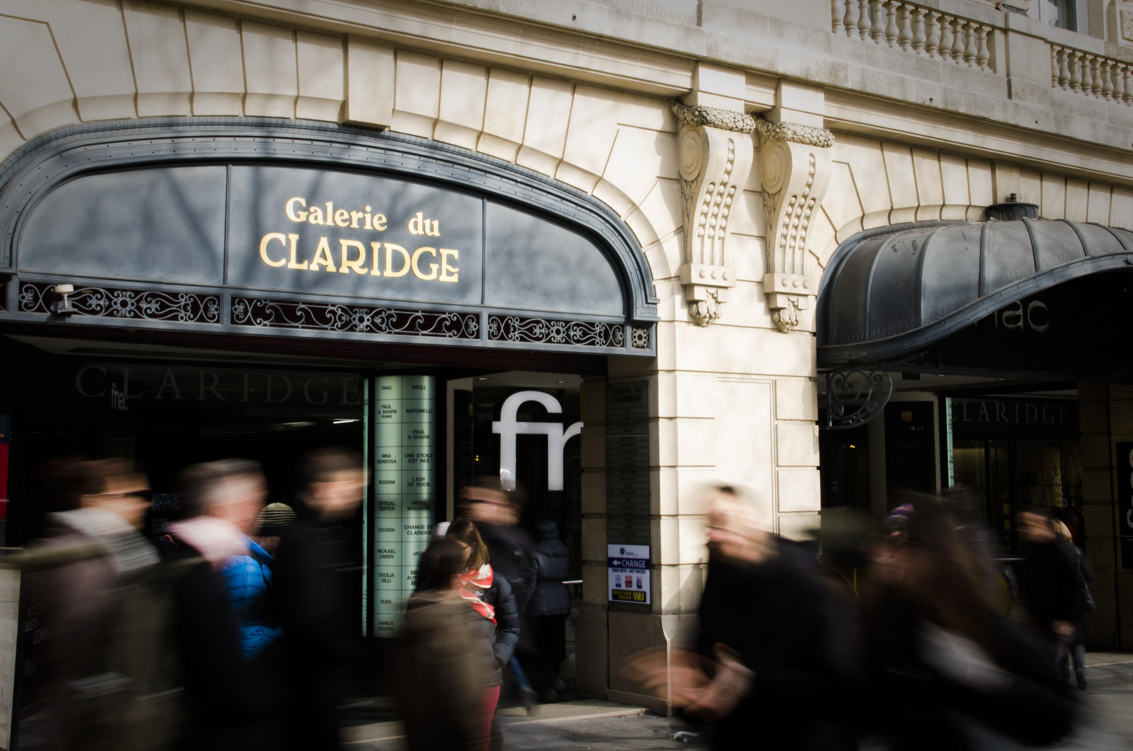 La galerie du Claridge au 74 de l'avenue des Champs Élysée