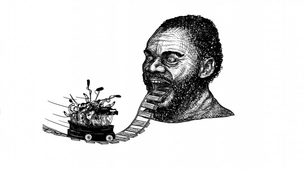 Caricature de Dieudonné par Clément Quintard pour 3millions7.com