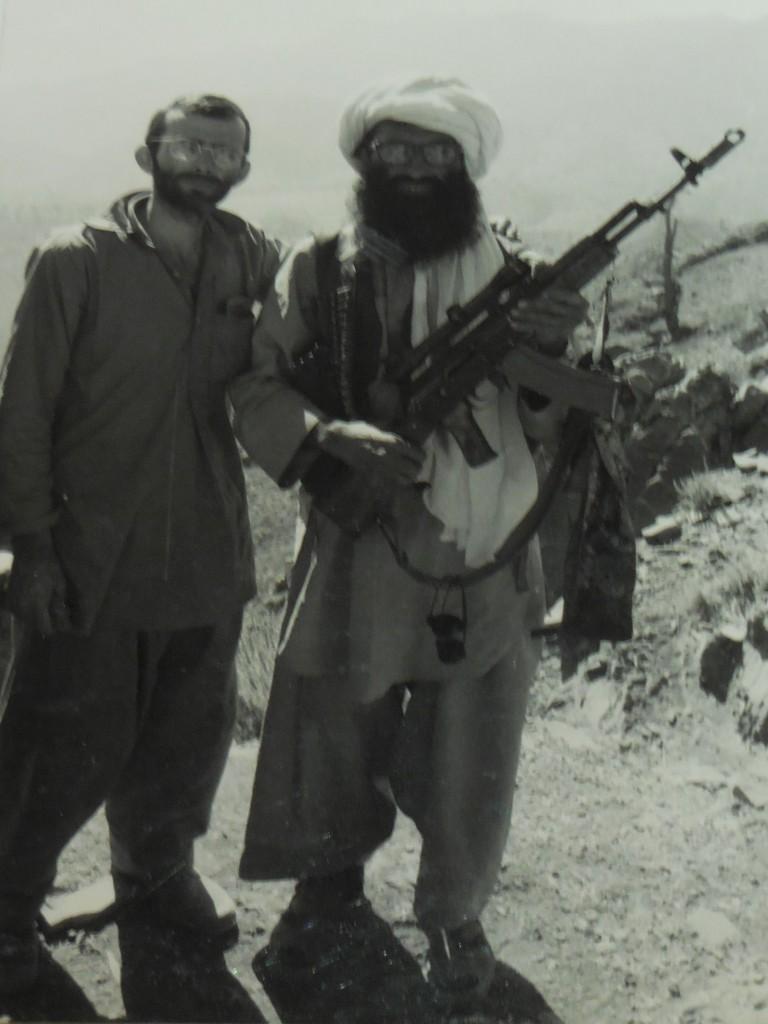 """Laurent Maréchaux  et Djalâlouddine Haqqani, chef du """"réseau Haqqani"""", allié des Talibans et activement recherché par les Etats-Unis"""