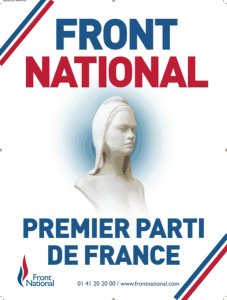 Affiche officielle du Front national.