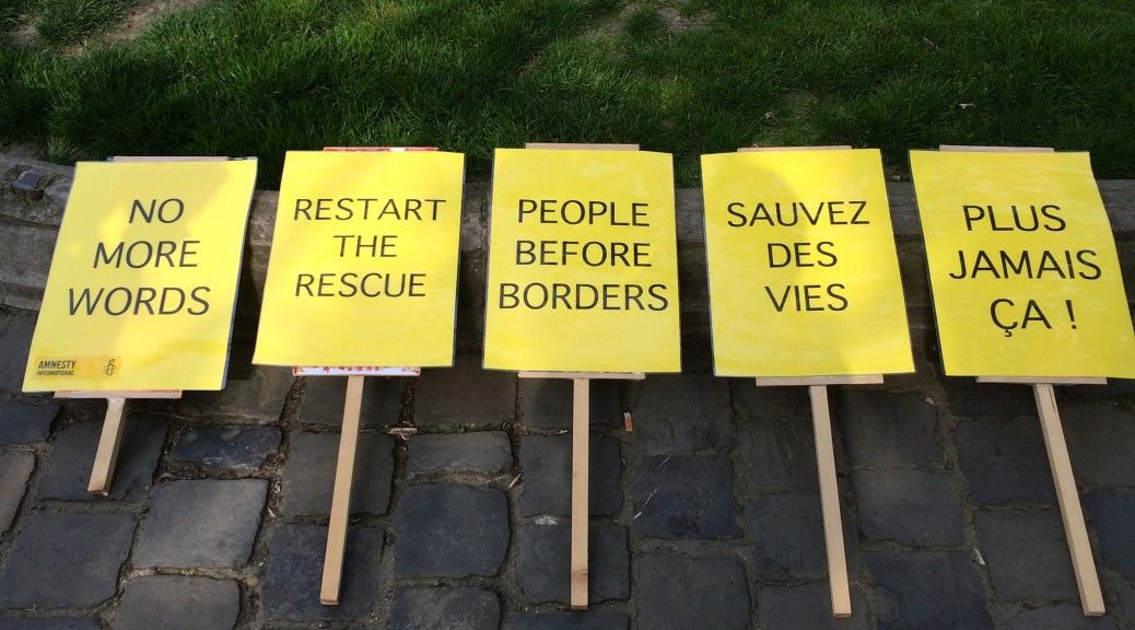 Mobilisation d'Amnesty International, aux Pays-Bas