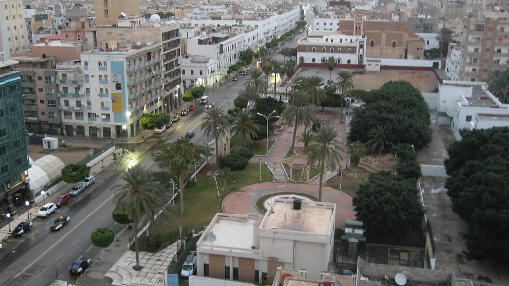 Le centre-ville de Tripoli, la capitale libyenne.