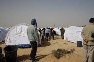 Camp en Libye