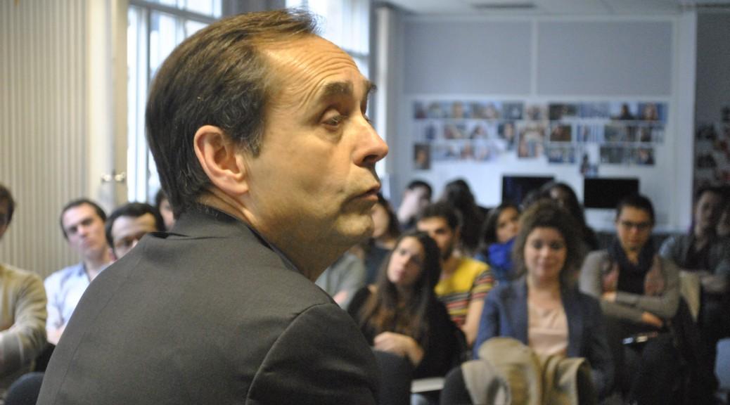 Le maire de Béziers Robert Ménard, Paris, le 19 mars