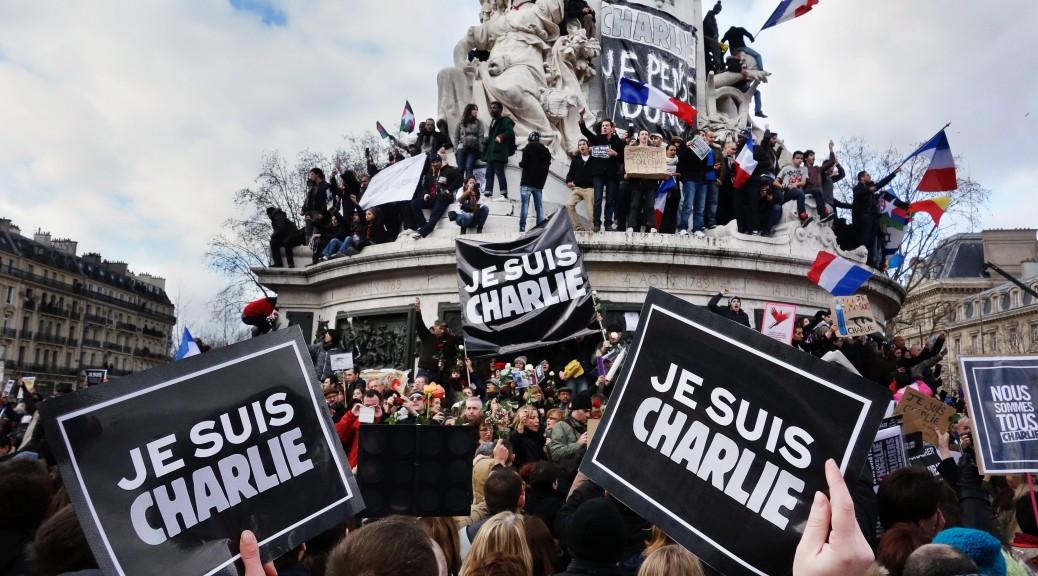 Manifestation de soutien contre les attentats de Charlie Hebdo, place de la République, dimanche 11 janvier 2015, Paris